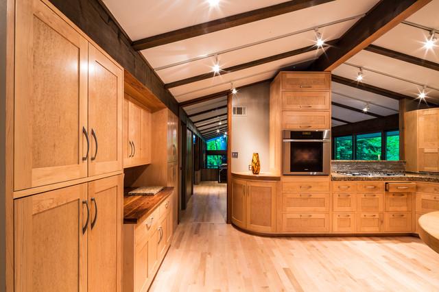 Frank Lloyd Wright Inspired House  Modern  Kitchen  Cincinnati  by Codis Inc Photography