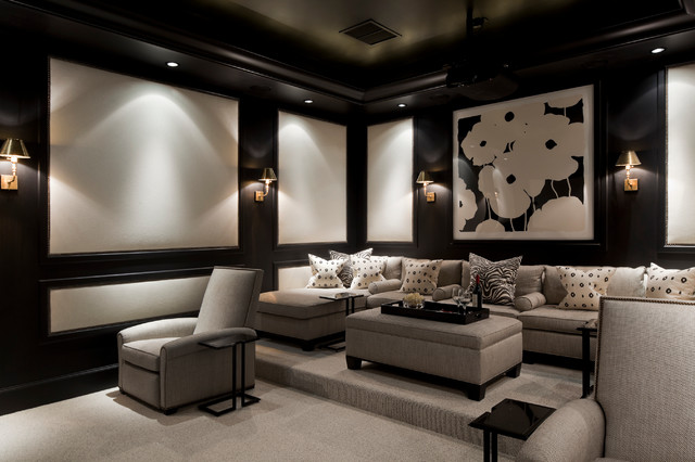 Coral Gables Florida Home  Traditional  Home Theater  Miami  by Eva Quateman Interiors