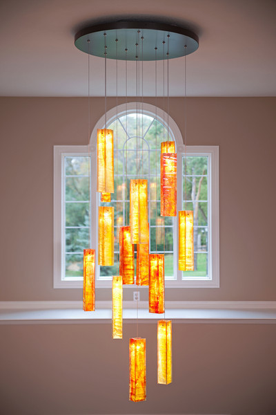 houzz modern living room lighting build a set tanzania custom fused glass chandelier - entry way light ...