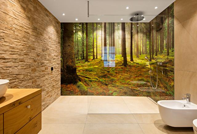 Glaswand Badezimmer  Modern  Badezimmer  Sonstige  von Bonath GmbH