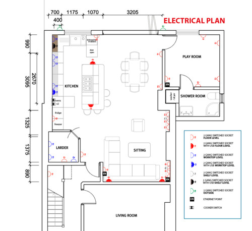 Electrical Plans for an Open Plan Layout