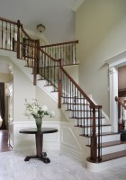 Dramatic Entry Way with Staircase   Traditional ...
