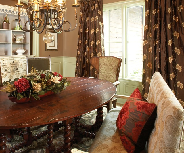 The Curtain Exchange Of Atlanta Rustic Dining Room New