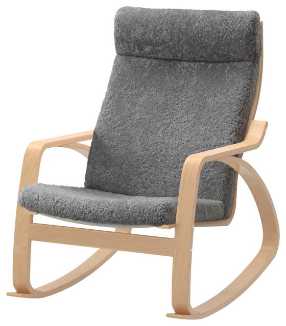 Pong Rocking Chair Lockarp Gray  Scandinavian  Rocking