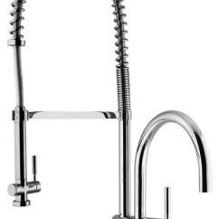 Vigo Kitchen Faucet Island With Seating Vg02006 Dresden Pre Rinse Pull Out Spray Stainless Steel Transitional Faucets By Bath Authority