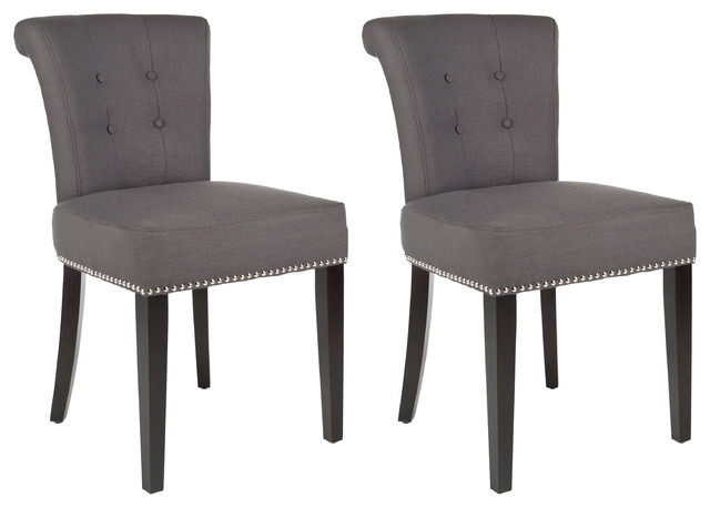 safavieh sinclair ring side chair ikea high review hunter birch dining chair, beige (set of 2) - transitional chairs by