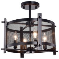 Aludra 4-Light Metal Chandelier With Mesh Shade ...