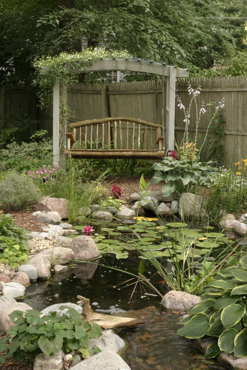 Outdoor Living with Water Gardens