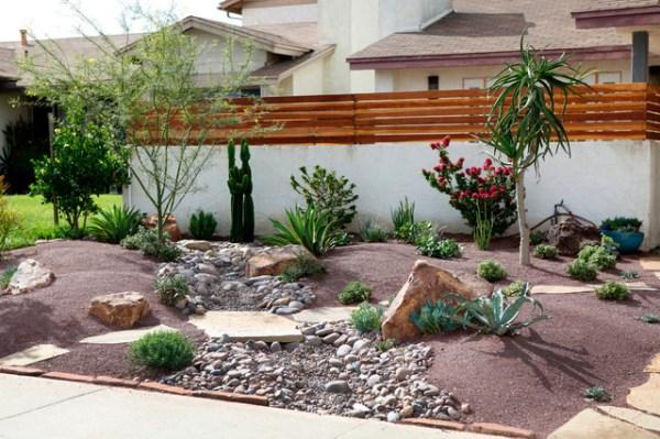 frontyard landscape ideas - southwestern