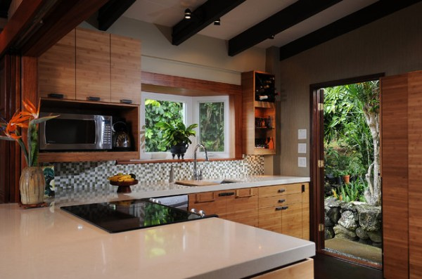 zen kitchen-island style - tropical