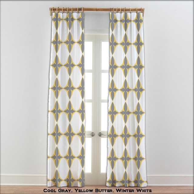 Coptic Cross Curtains In Yellow Gray White 22 Other Colors