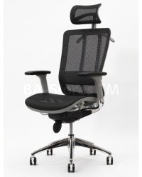 Future Office Chair with Headrest in Gray Frame with Black ...