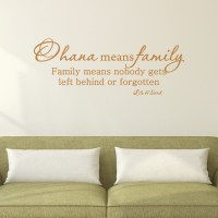 Ohana Means Family Wall Quotes Decal, Copper - Traditional ...