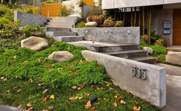entry steps hillside home