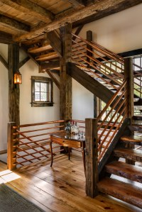 Game Room - Rustic - Staircase - New York - by Crisp ...