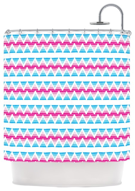 "Kess InHouse Apple Kaur Designs ""Swimming Pool Tiles"" Blue Pink"