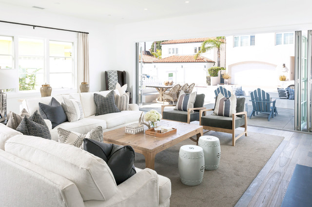 West Bay beach-style-living-room