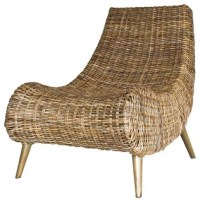 Trevia Rattan Chair, Natural - Tropical - Armchairs And ...