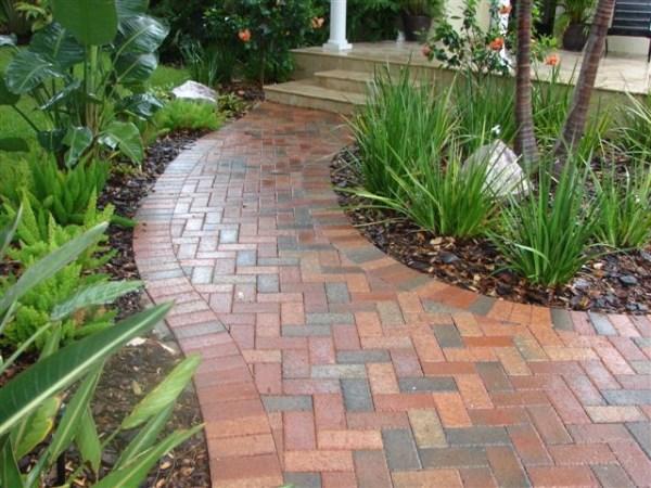 brick walkway - traditional landscape