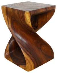 Wooden Twist End Table - Tropical - Side Tables And End ...