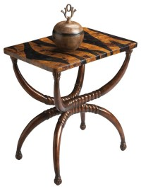 Tiger Pattern Accent Table - Tropical - Side Tables And ...