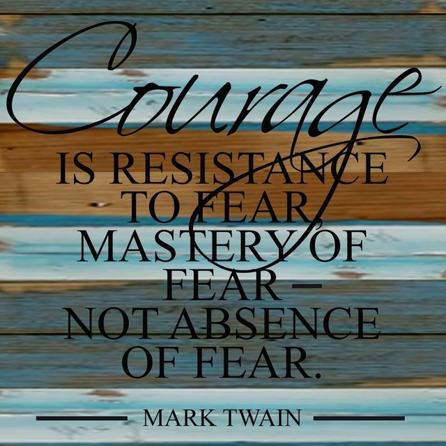 12x12 Courage Is Resistance To Fear Cool Breeze