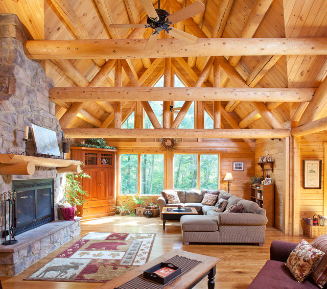 living room lighting ideas cathedral ceiling paint combinations for reading, pa family retreat - rustic ...