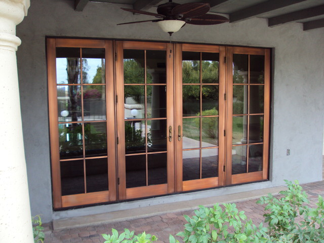 Copper doors after protective coating  Mediterranean