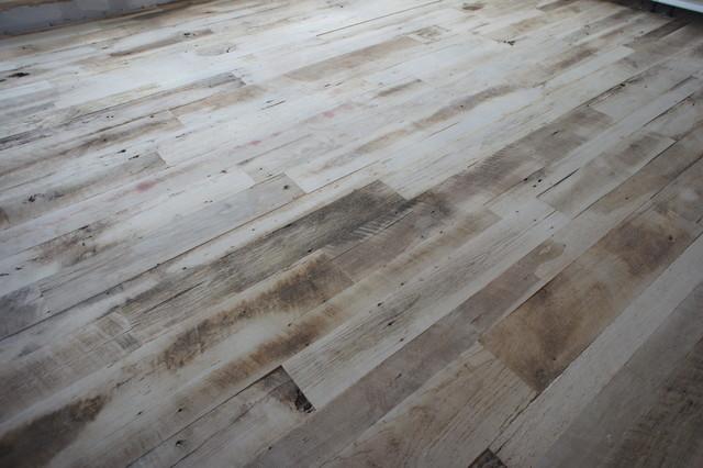 Reclaimed Wood Floor Eclectic Living Room Denver