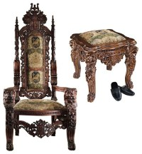 86lbs. European Lord Raffles Gothic Gold Throne and