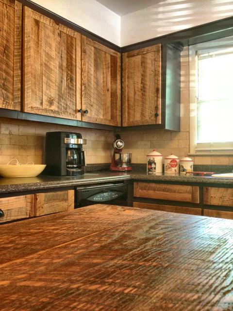 kitchen island bar stools used countertops cabinet doors - rustic atlanta by the rusted ...
