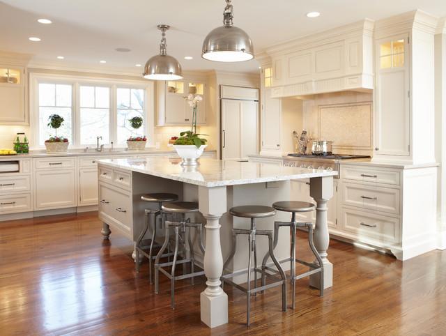 Open floor plan kitchen renovation  Traditional  Kitchen  New York  by TR DesignBuild Firm