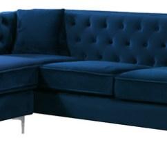 Chloe On Tufted Velvet Sofa Sofascore Apk Lane 2-piece Reversible Sectional Sofa, Black ...
