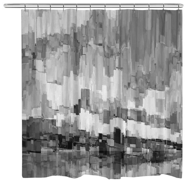 laural home grey glacier shower curtain
