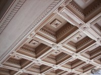 Renaissance coffered ceiling - Traditional - Living Room ...