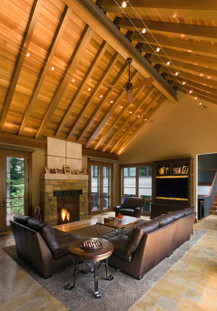 Living Rooms Rustic Living Room Cleveland By Scott