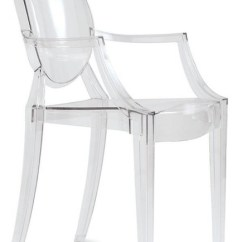 Ghost Chairs Cheap Office On Wheels Uk Louis Chair Set Of 2 Transparent Contemporary Armchairs Crystal