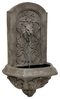 Soothing Lion Head Wall Mounted Water Fountain ...