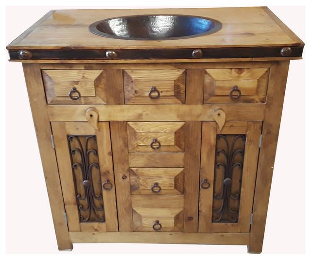 Rustic Saint Andrew Bathroom Vanity Reclaimed Wood Traditional Bathroom Vanities And Sink Consoles By Rusticmanhomedecor