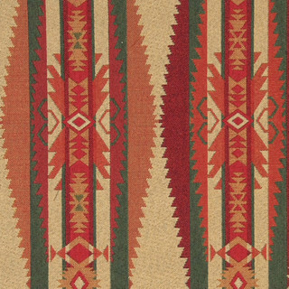 Red Green Biege and Orange Southwest Style Upholstery