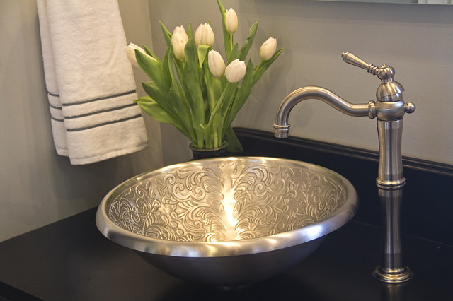 moroccan inspired bath mediterranean