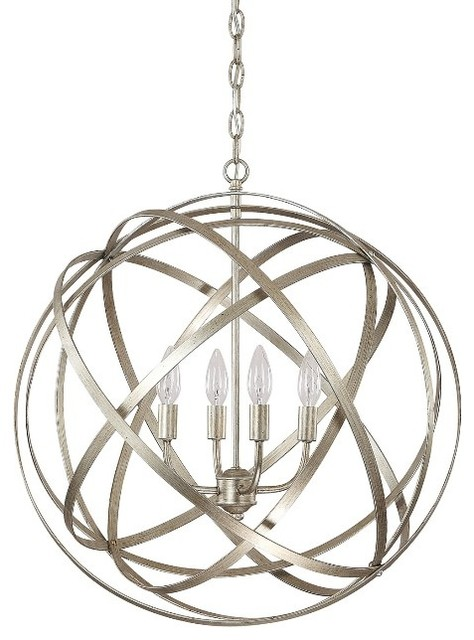 Axis 4 Light Chandelier Winter Gold Standard Contemporary Pendant Lighting