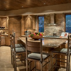 Kitchen Island With Bar Stools Drapes Southwest Contemporary - Southwestern Phoenix ...