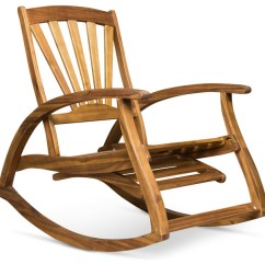 Rocking Chair Footrest Recliner Lazy Boy Alva Outdoor Acacia Wood With Transitional Chairs By Gdfstudio
