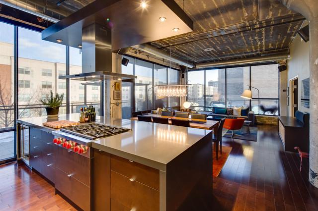 Dwelling Designs Warehouse District Loft  Industrial
