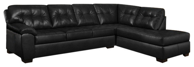 simmons reversible chaise sofa plastic chair covers soho natural bonded leather left facing sectional onyx right