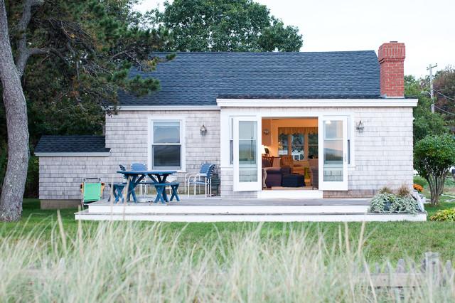 Small Beach House Renovation Coastal Exterior Portland Maine
