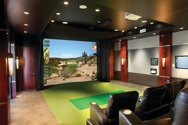 Multi Purpose Media Room Traditional Home Theater