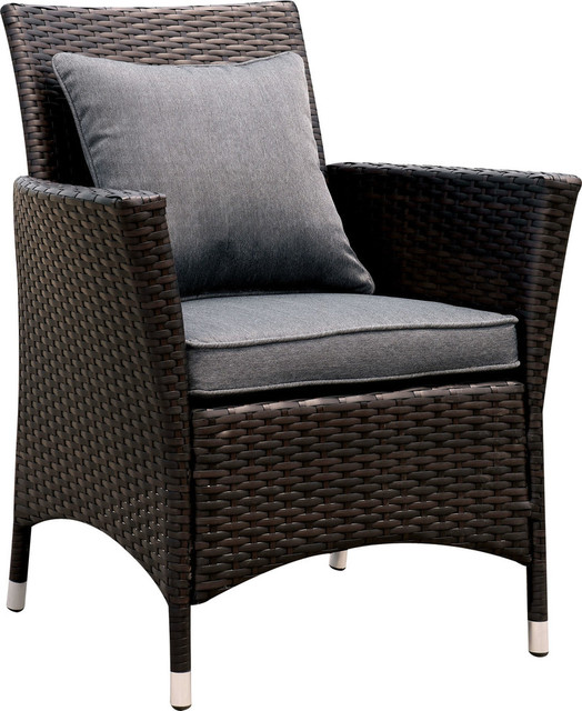 wicker patio chair set of 2 ball benefits elmore chairs tropical outdoor lounge idf ot1823gy ac