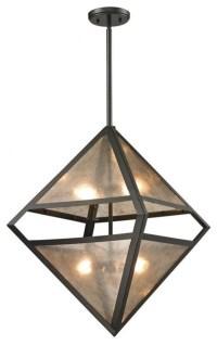 Elk Lighting Mica 4-Light Pendant, Oil Rubbed Bronze And ...